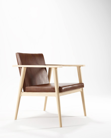 Vintage EASY CHAIR W/ LEATHER by Karpenter | Chairs
