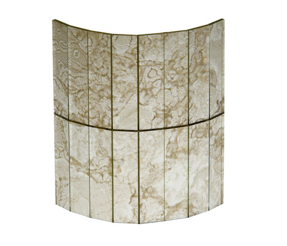 Mosaico Damasco | Bianco 2. by Antique Mirror | Decorative glass