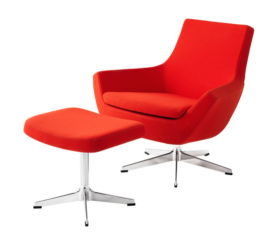 Happy Swing low back with foot stool by Swedese | Armchairs