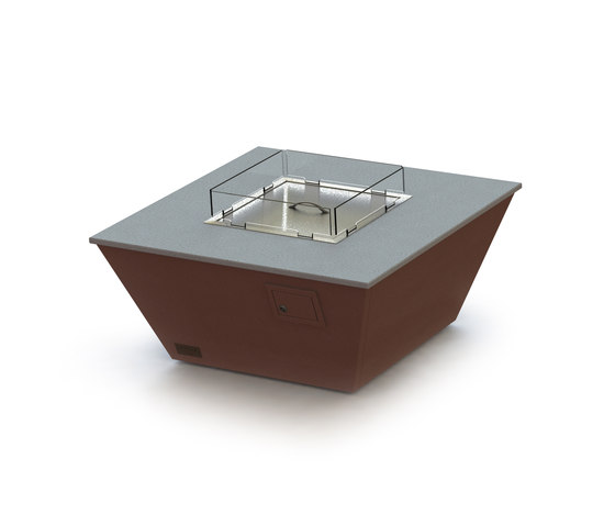 Aztec Gas Fire Table by Rivelin | Fire tables