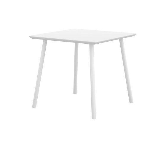 Maarten table 80x80cm by viccarbe | Cafeteria tables