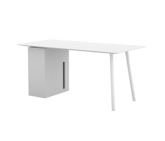 Maarten table 160x80cm with storage unit de viccarbe   Escritorios