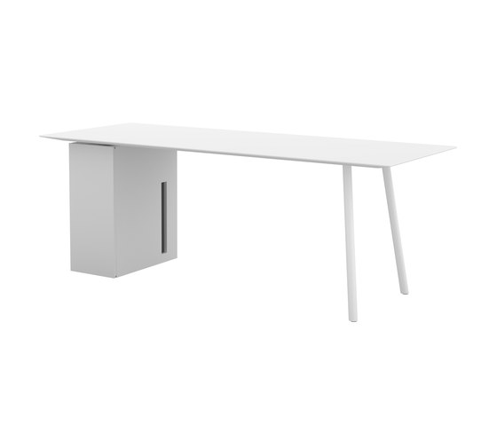 Maarten table 200x80cm with storage unit di viccarbe | Scrivanie