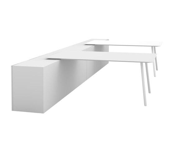 Maarten table 180x120cm leaned di viccarbe | Scrivanie