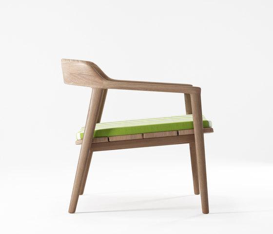 Grasshopper EASY CHAIR WITH CUSHION SUNBRELLA MACAO STRIPE by Karpenter | Armchairs