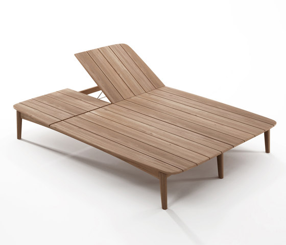 Grasshopper DOUBLE SUNBED WITHOUT CUSHION by Karpenter | Sun loungers