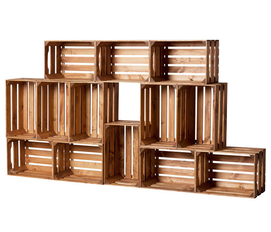 WOOD CRATE 1 LARGE by Noodles Noodles & Noodles | Shelving