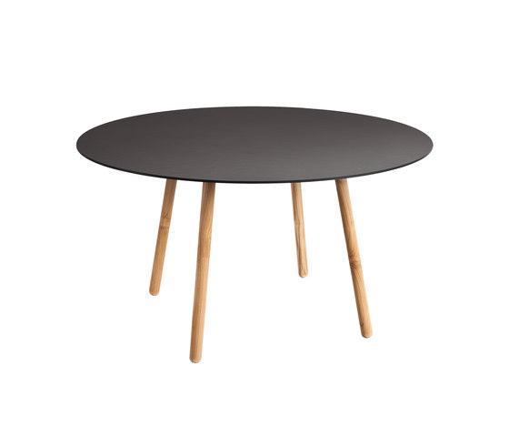 Round   Esstisch, Rund, Compact HPL/Porzellan-Platte von Point   Esstische