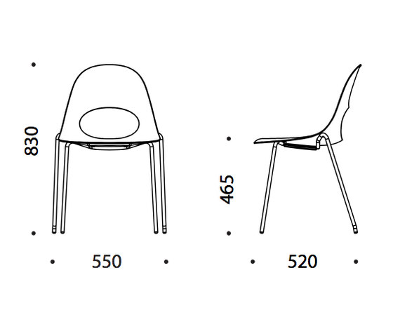 Say O Basic - Metal by Say O | Visitors chairs / Side chairs