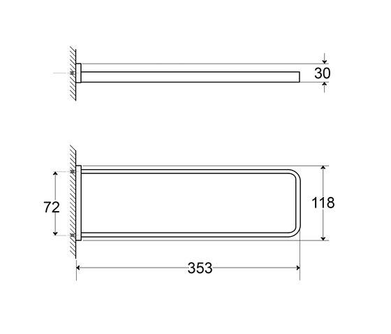 450 2550 Towel holder by Steinberg   Towel rails