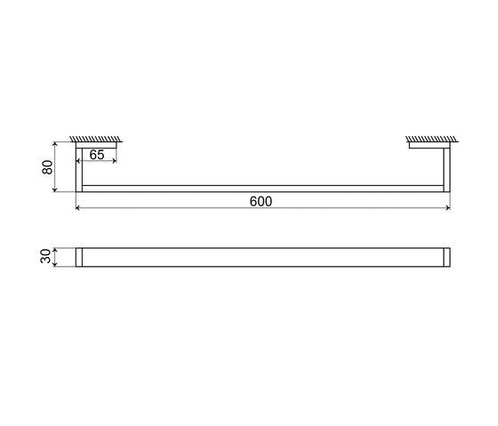 460 2600 Towel bar 600 mm by Steinberg   Towel rails