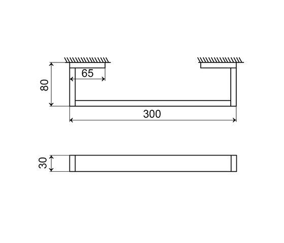 460 2630 Bath grab bar 300 mm by Steinberg | Grab rails