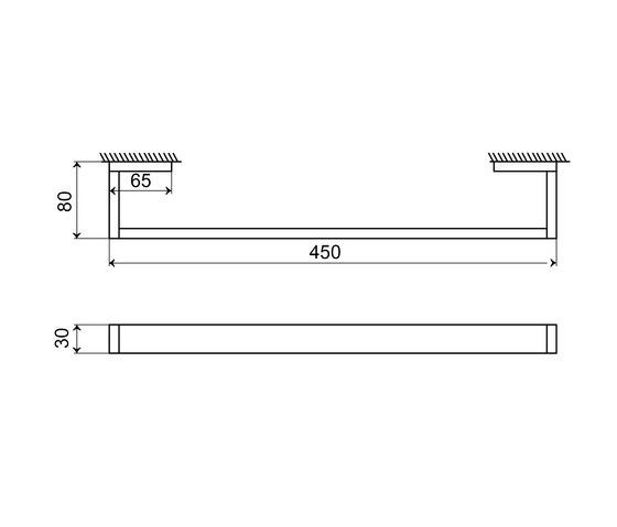 460 2645 Towel bar 450 mm by Steinberg   Towel rails