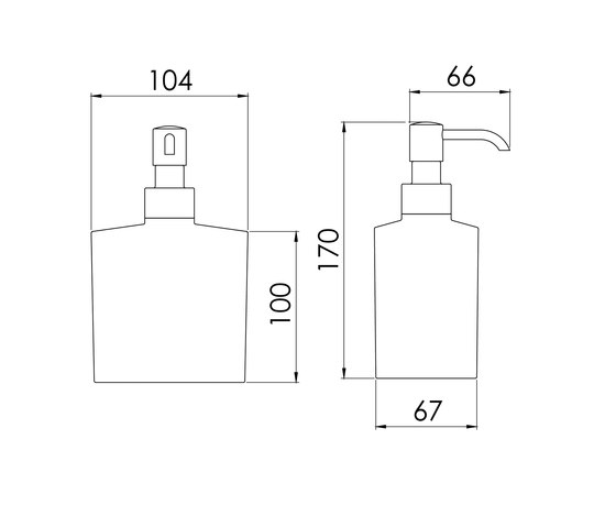 460 8101 Free standing soap dispenser by Steinberg | Soap dispensers