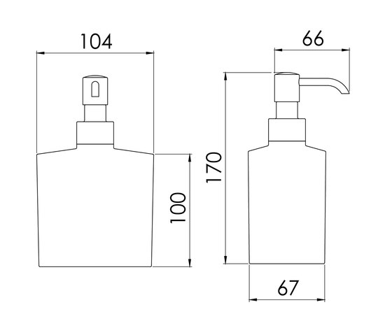 460 8102 Free standing soap dispenser by Steinberg   Soap dispensers