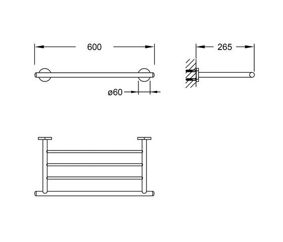 650 2700 Towel rack by Steinberg | Towel rails