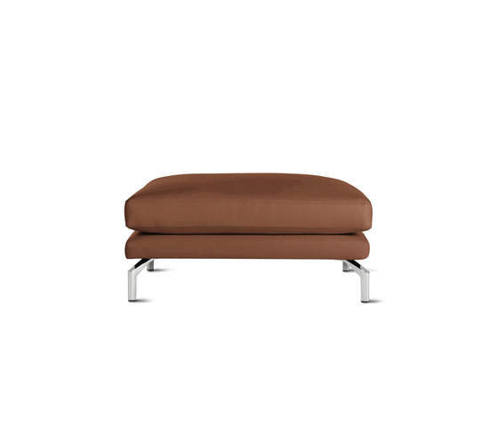 Como Ottoman in Leather von Design Within Reach | Poufs / Polsterhocker