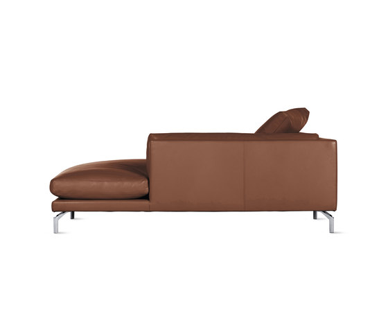 Como Chaise in Leather, Right von Design Within Reach | Modulare Sitzelemente
