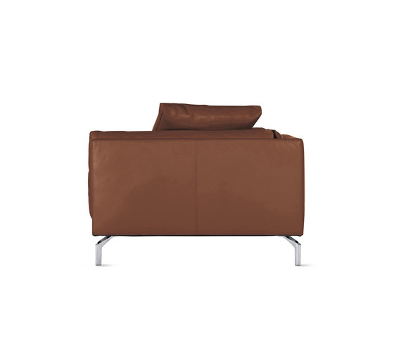 Como Chaise in Leather, Left by Design Within Reach | Modular seating elements