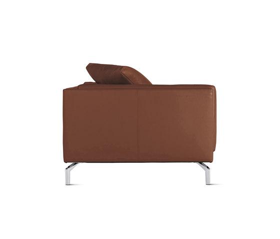 Como One-Arm Sofa in Leather, Left von Design Within Reach | Modulare Sitzelemente