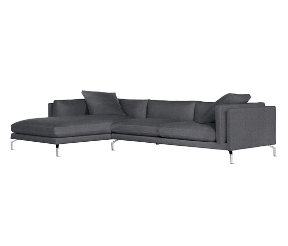Como Sectional Chaise in Fabric, Left von Design Within Reach | Sofas