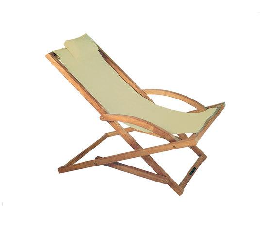 Beacher 65 folding relax chair de Royal Botania | Méridiennes de jardin