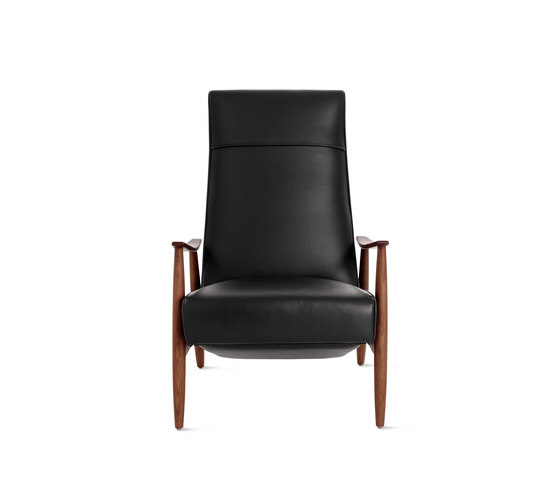 Milo Baughman Recliner 74 in Leather by Design Within Reach | Armchairs