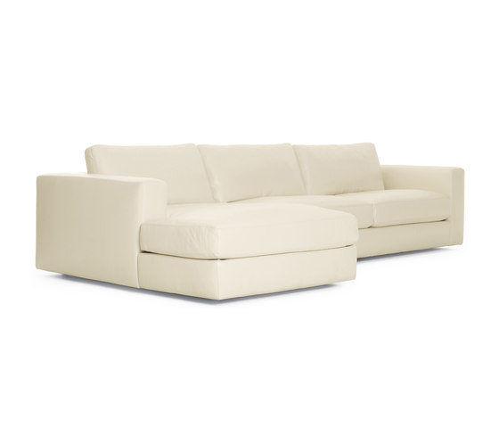 Reid Sectional Chaise Left in Leather by Design Within Reach | Modular sofa systems