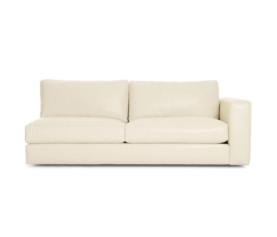 Reid One-Arm Sofa Right in Leather by Design Within Reach | Modular seating elements