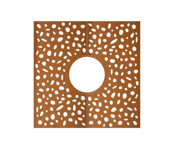 CorTen Tree Grid Pebbles by Streetlife | Tree grates / Tree grilles