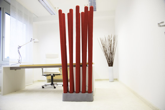 acoustic MIKADO by silentrooms | Sound absorbing freestanding systems