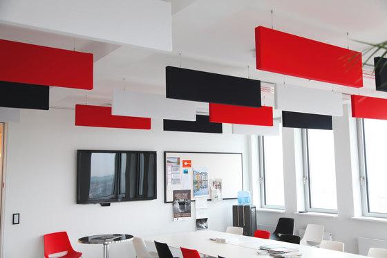 SmartLine│baffle by silentrooms   Sound absorbing suspended panels