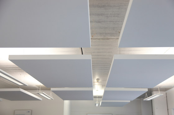 BaseLine│ceiling sail by silentrooms | Acoustic ceiling systems