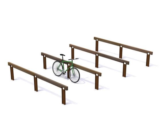 Rough & Ready Inline Parking de Streetlife | Soportes para bicicletas