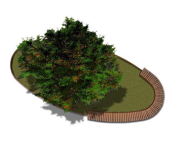 Rough & Ready Oval Tree Isles de Streetlife | Bancos