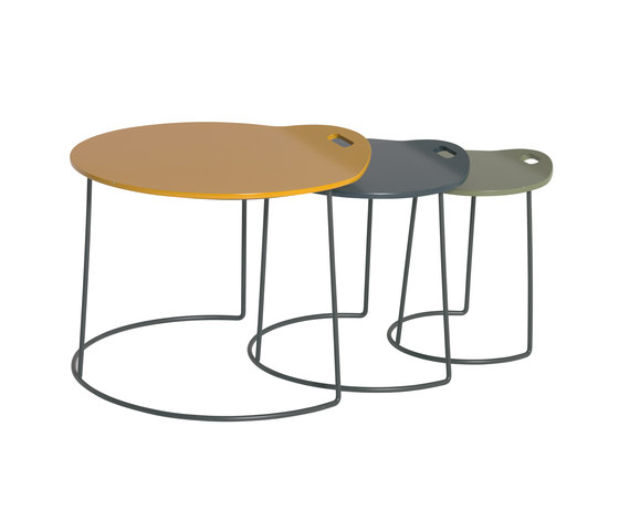 Pompaples 3 nesting tables by Atelier Pfister | Side tables