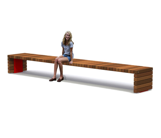 Solid Crosswise Benches de Streetlife | Bancos