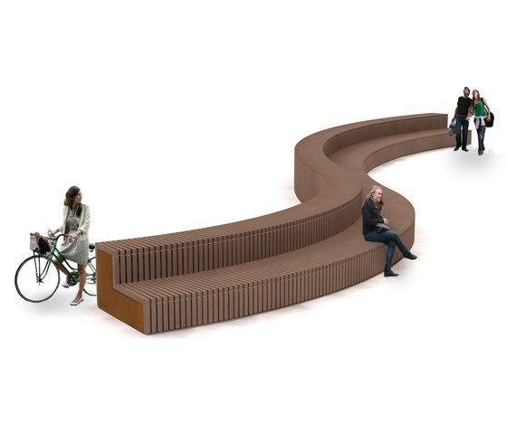 Solid Terrace Curve de Streetlife   Bancos