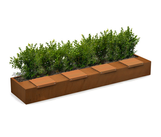 Solid Long Green Benches de Streetlife | Bancos
