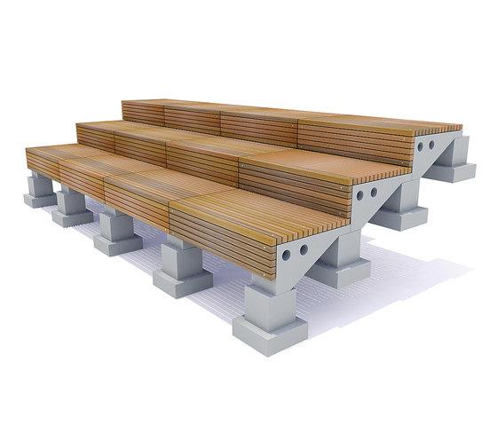 Solid Terrace System de Streetlife   Bancos