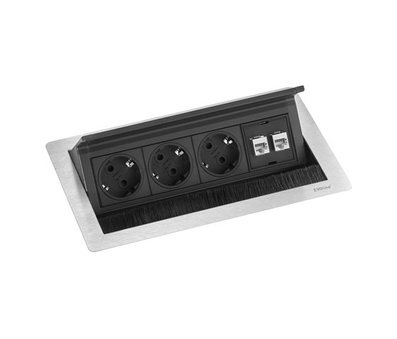 FlipTop Push Data M de EVOline | Schuko sockets