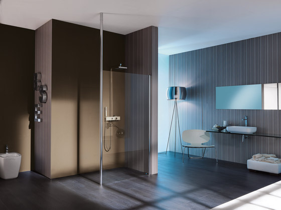 Open Floor-ceiling system by SAMO | Shower screens