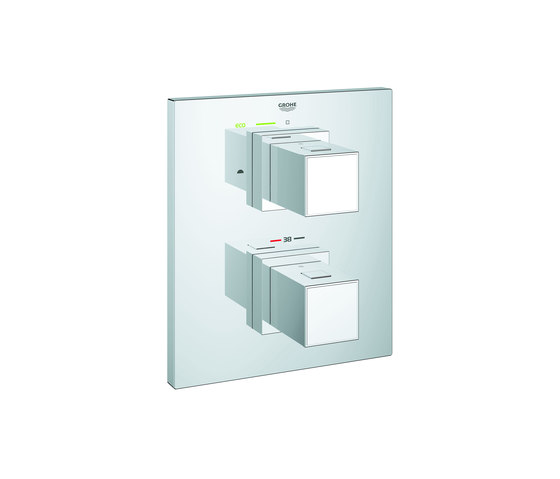 Grohtherm Cube Thermostat with integrated 2-way diverter by GROHE   Shower controls