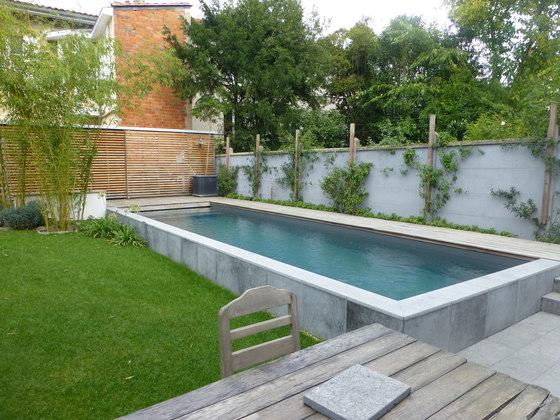 Half burried pools by piscines carr bleu half burried for Carre bleu