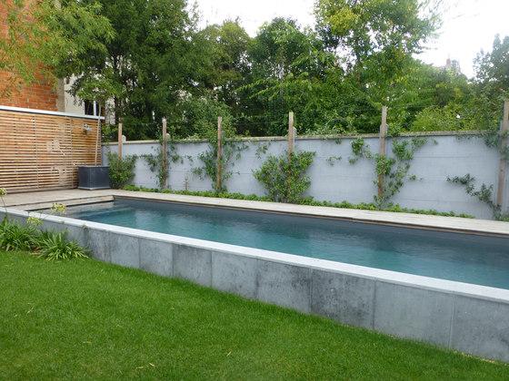 piscines semi enterr es de piscines carr bleu produit. Black Bedroom Furniture Sets. Home Design Ideas