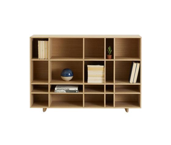 Kilt Open 120 low by ASPLUND | Library shelving