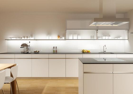 Glass shelf | GERA light system 4 by GERA | Illuminated shelving
