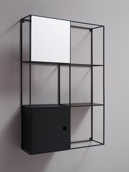 Felt wall-mounted cabinet by EX.T | Bath shelving