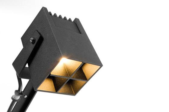 Julien square foot IP54 LED GI de Modular Lighting Instruments | Lampadaires d'extérieur
