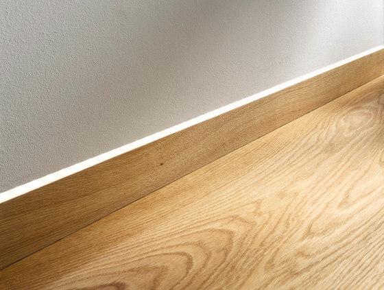Flooring units | Flush-mount skirting board with LED | Admonter